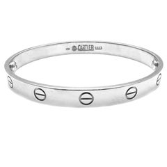 Cartier Love White Gold Bangle Bracelet