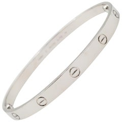 Cartier 'Love' White Gold Bracelet