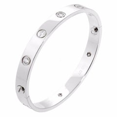 Cartier Love White Gold Diamond Bangle Bracelet