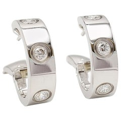 Cartier 'Love' White Gold Diamond Earrings