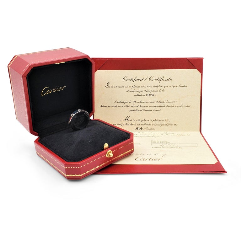 Women's or Men's Cartier 'Love' White Gold Wedding Band For Sale