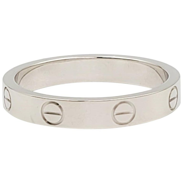 Cartier 'Love' White Gold Wedding Band For Sale