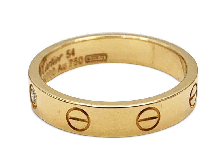 Cartier 'Love' Yellow Gold and Diamond Ring In Excellent Condition For Sale In New York, NY