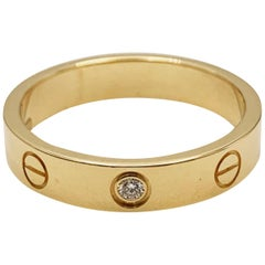 Cartier 'Love' Yellow Gold and Diamond Ring