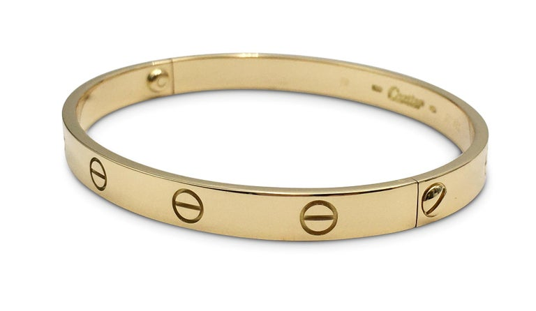 Cartier 'Love' Yellow Gold Bracelet In Excellent Condition For Sale In New York, NY