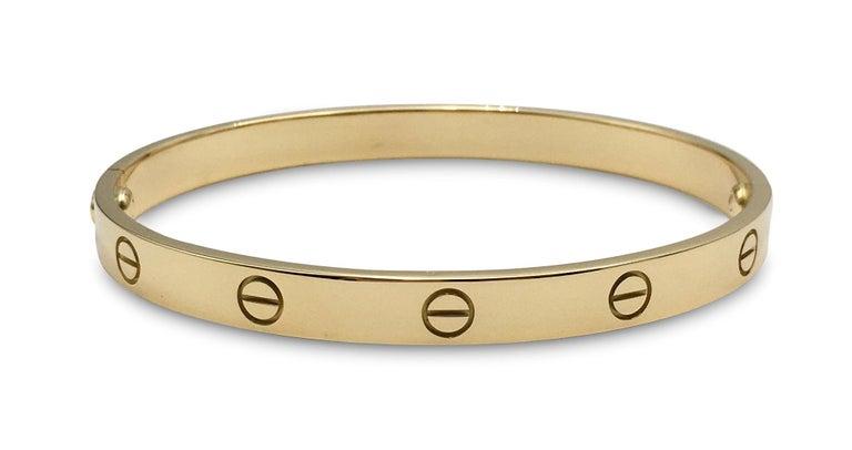 Cartier 'Love' Yellow Gold Bracelet For Sale 1