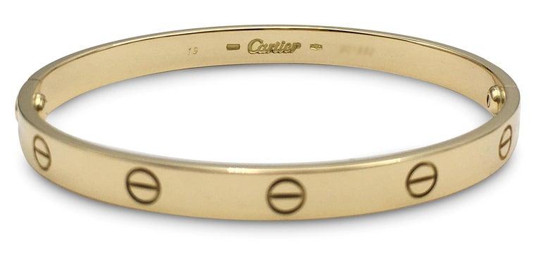 Cartier 'Love' Yellow Gold Bracelet For Sale 2