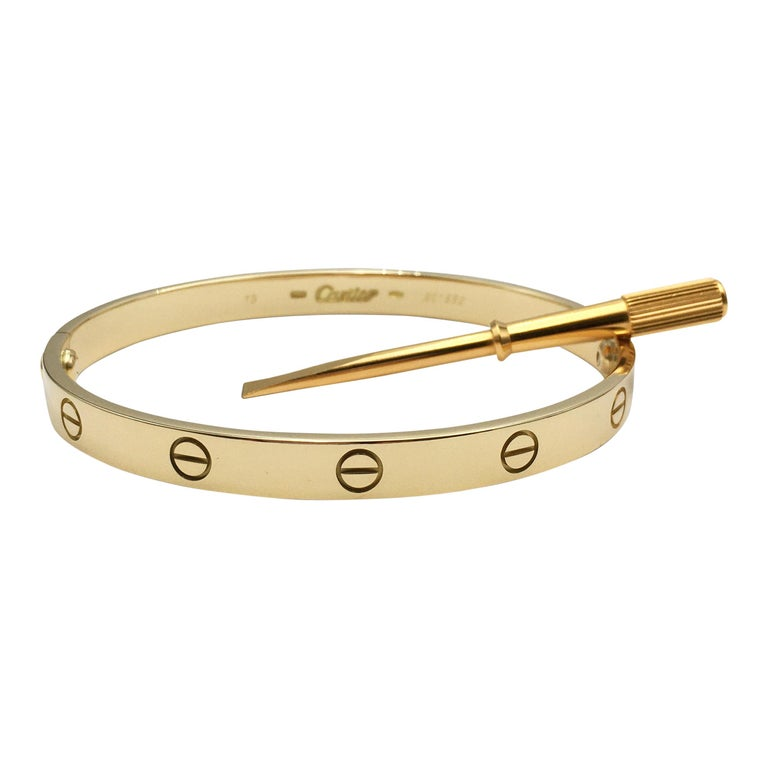 Cartier 'Love' Yellow Gold Bracelet For Sale