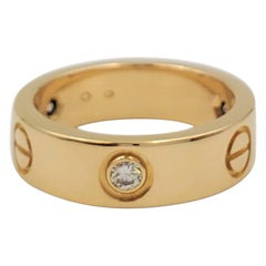 Cartier 'Love' Yellow Gold Diamond Ring