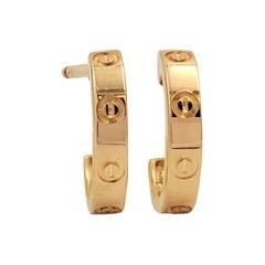 Cartier 'Love' Yellow Gold Earrings