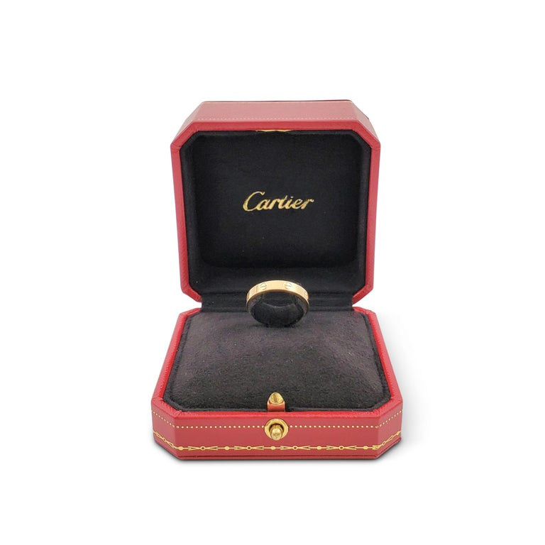 Women's or Men's Cartier 'Love' Yellow Gold Wedding Band For Sale