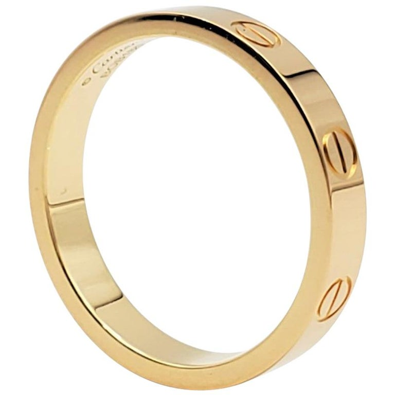 Cartier 'Love' Yellow Gold Wedding Band For Sale