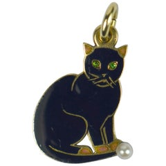 Cartier Lucky Black Cat Charm Pendant