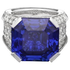 Cartier Magnificent 27carat Sapphire and Diamond Ring