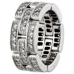 Cartier Maillon 18 Karat White Gold 1.45 Carat Diamond Ring