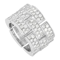 Cartier Maillon de Cartier 18K White Gold 4.00 ct Diamond Ring
