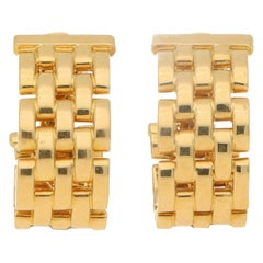 Cartier Maillon de Panthere Link Earrings in Yellow Gold