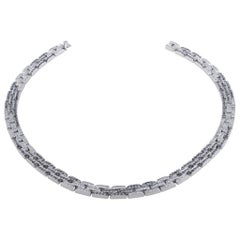 Cartier Maillon Panther Black and White Diamond Necklace