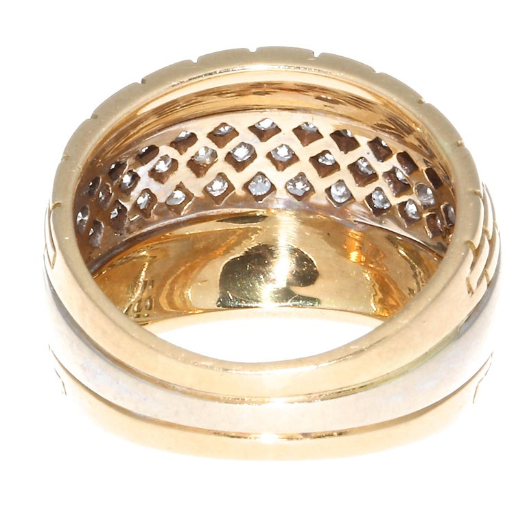 Cartier Maillon Panther Diamond Gold Ring In Excellent Condition For Sale In Beverly Hills, CA
