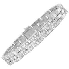 Cartier Maillon Panthère 18 Karat White Gold, 1.00 Carat Diamond Bracelet