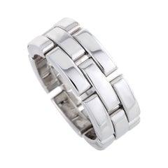 Cartier Maillon Panthère 18 Karat White Gold Band Ring