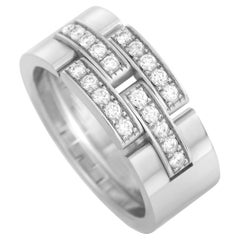 Cartier Maillon Panthere 18K White Gold Diamond Ring
