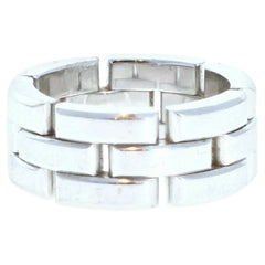 Cartier Maillon Panthere 18K White Gold Ring