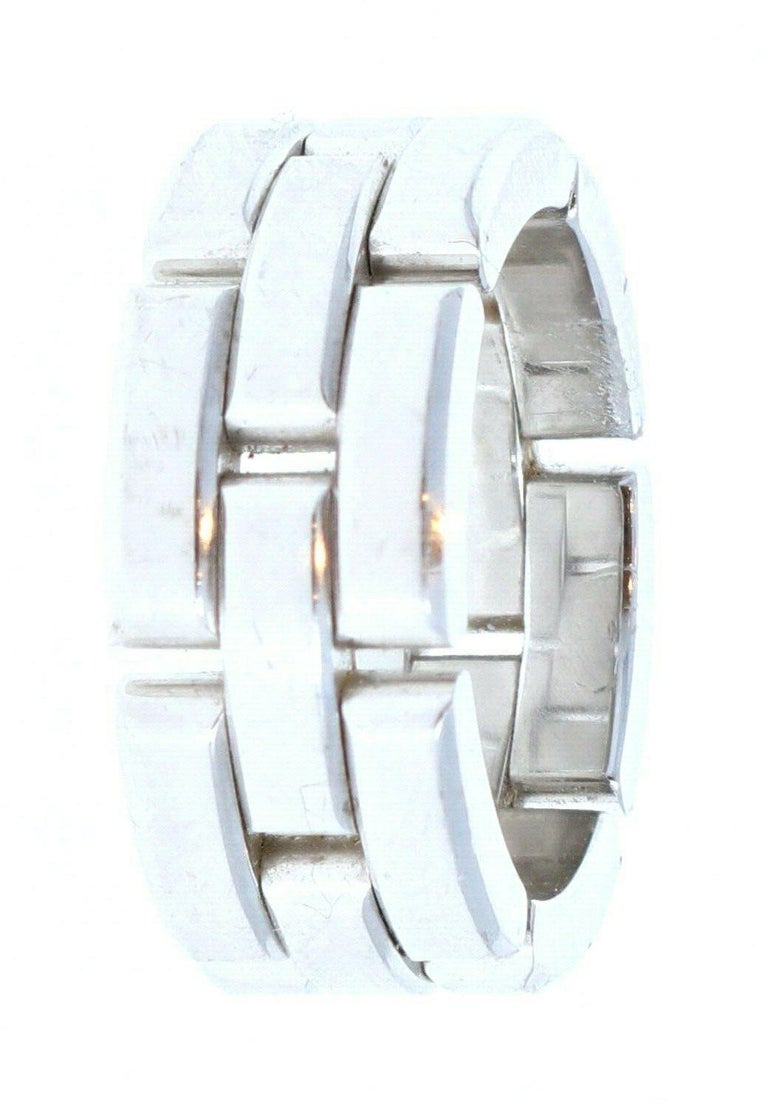 Women's Cartier Maillon Panthere 18K White Gold Ring For Sale
