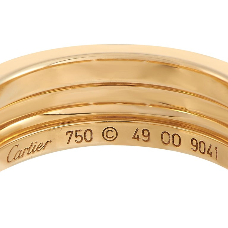 Cartier Maillon Panthere 18K Yellow Gold Diamond Ring In Excellent Condition In Southampton, PA