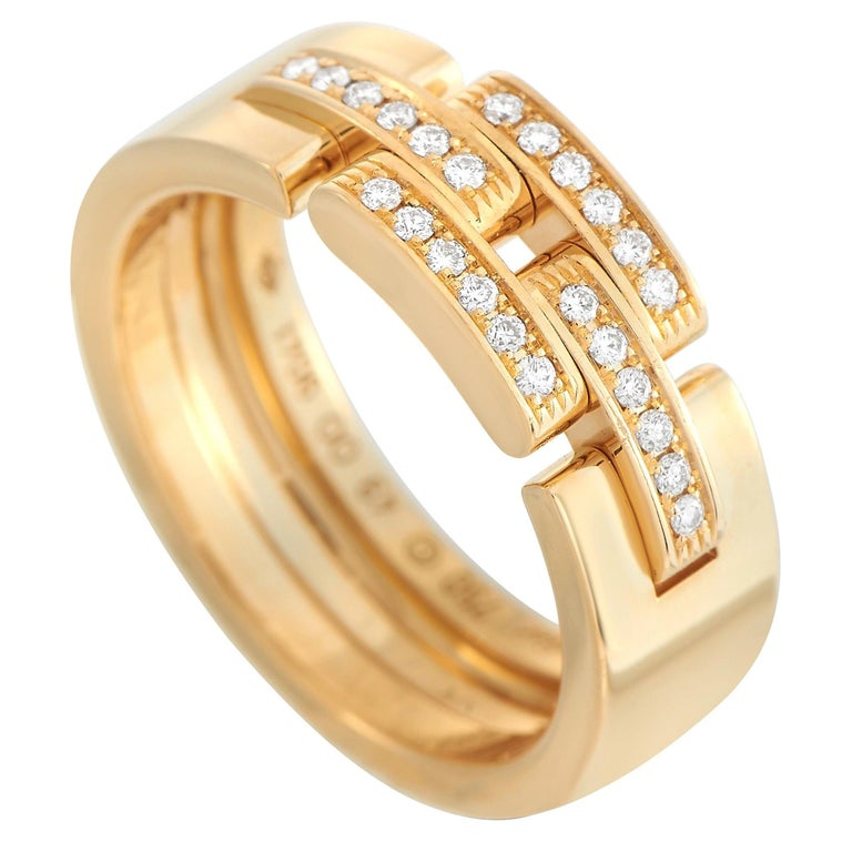Cartier Maillon Panthere 18K Yellow Gold Diamond Ring