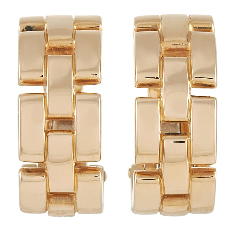 Cartier Maillon Panthère 18k Yellow Gold Earrings