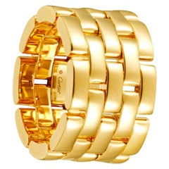 """Cartier """"Maillon"""" Panthere 5 Rows 18K Yellow Gold Ring"""