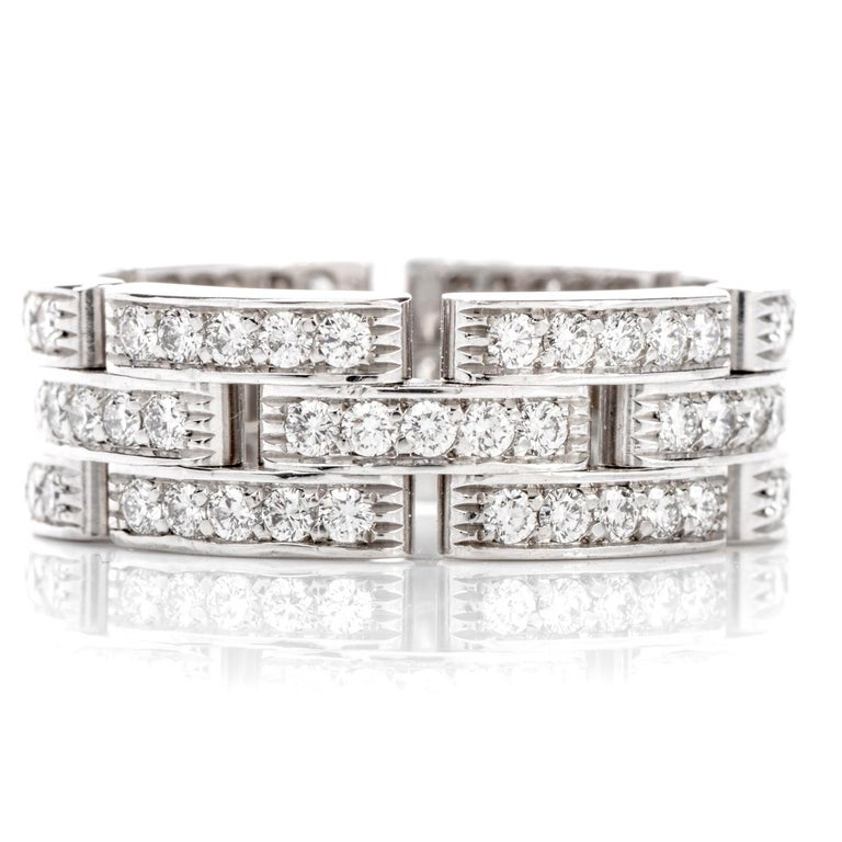 A bit of Cartier for a lifetime!  Enjoy a lifetime of wear with this 8mm wide  Cartier diamond wedding band ring from