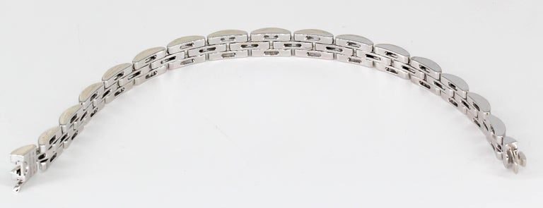 Cartier Maillon Panthere Diamond and White Gold Three-Row Link Bracelet For Sale 1