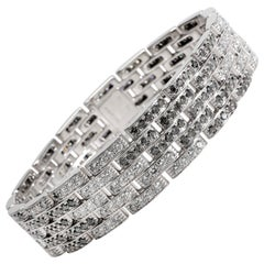 Cartier Maillon Panthere Diamond Bracelet in 18 Karat White Gold 10 Carat