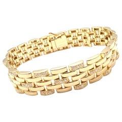 Cartier Maillon Panthere Diamond Five-Row Link Gold Bracelet