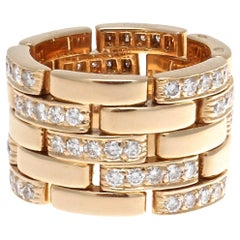 Cartier Maillon Panthere Diamond Gold Ring