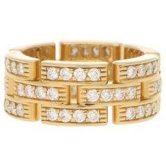 Cartier Maillon Panthere Diamond Ring in 18 Karat Yellow Gold