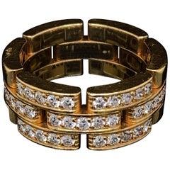 Cartier Maillon Panthère Diamond Set 18 Karat Gold Ring