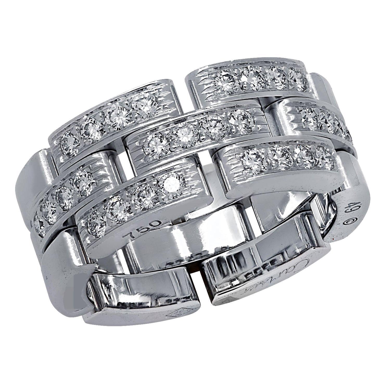 Cartier Maillon Panthere Diamond Wedding Band