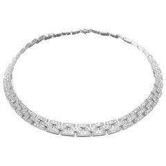 Cartier Maillon Panthere Diamond White Gold Necklace