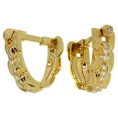 Cartier Maillon Panthere Diamond Yellow Gold Stirrup Cufflinks