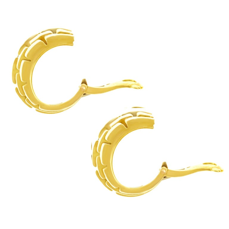 Cartier Maillon Panthere Earrings For Sale 3