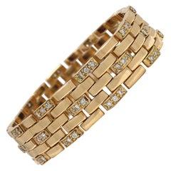 Cartier Maillon Panthère Gold and Diamond Link Bracelet