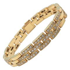 Cartier 'Maillon Panthère' Gold and Diamond Link Bracelet