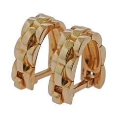 Cartier Maillon Panthere Gold Stirrup Cufflinks
