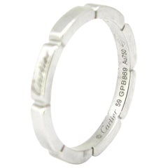 Cartier Maillon Panthere White Gold Band Wedding Engagement Bridal Ring