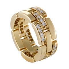 Cartier Maillon Panthere Women's 18 Karat Yellow Gold Diamond Band Ring