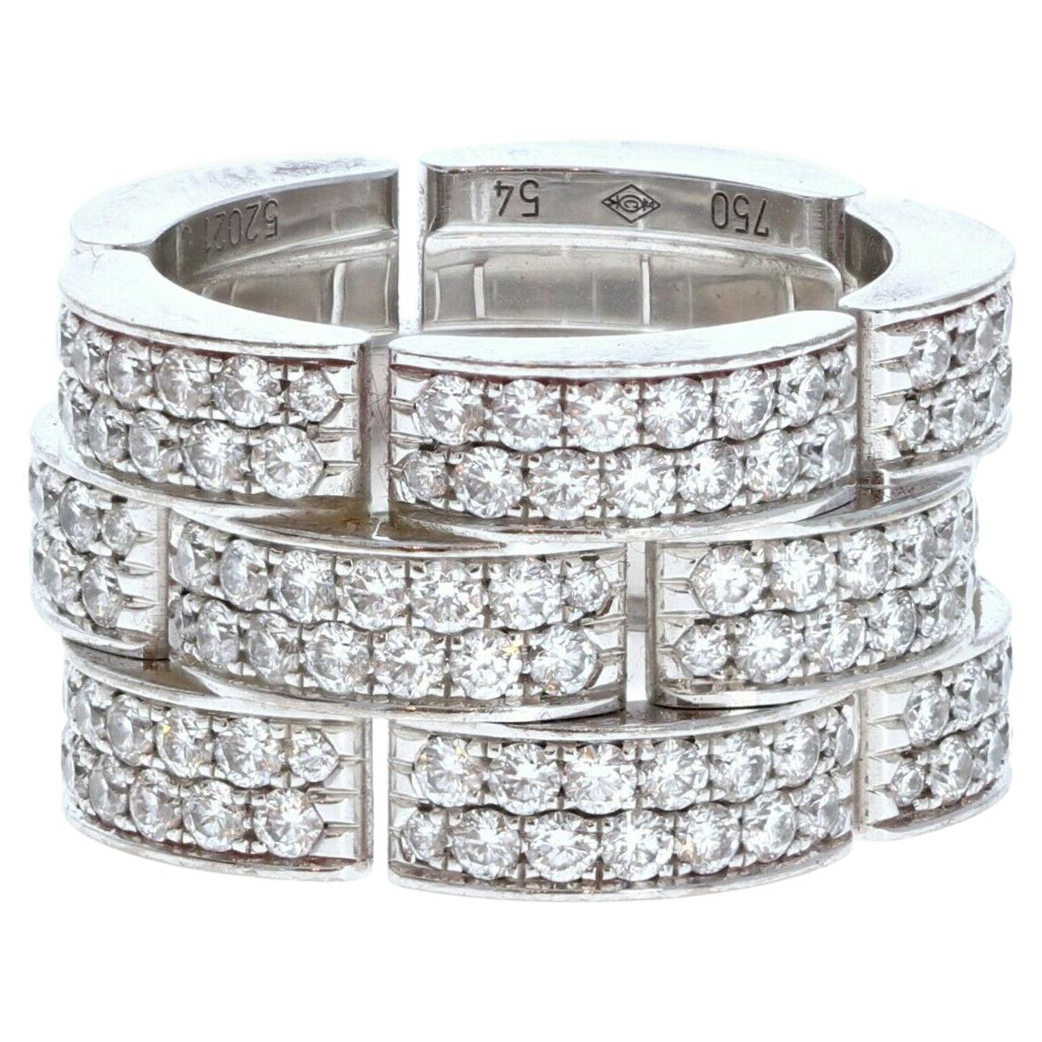 Cartier Maillon Panthere XL Diamond Band Ring 20.6g with Box