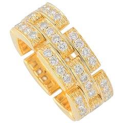 Cartier Maillon Panthere Yellow Gold Diamond Ring 1.53 Carat